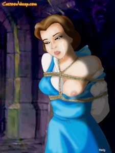 Belle in BDSM action